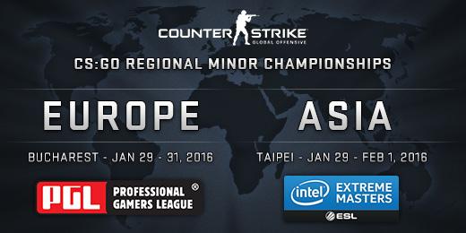 Второстепенните регионални CS:GO шампионати — Европа | Азия